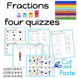 First Grade Common Core Quiz on Fractions