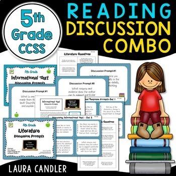Common Core Reading Discussion Combo - 5th Grade