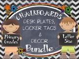 CHALKBOARDS  & KIDS {EDITABLE} NAMEPLATES AND DECOR BUNDLE
