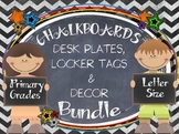 CHALKBOARDS  & KIDS {EDITABLE} NAMEPLATES AND DECOR BUNDLE