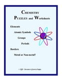 CHEMISTRY PUZZLES and WORKSHEETS Pack 1