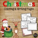 CHRISTMAS Coloring & Writing Pages {Santa, Reindeer, Elves