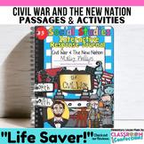CIVIL WAR & More- Social Studies INTERACTIVE NOTEBOOK #3