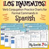 COMMANDS:  Formal Commands Practice Charts