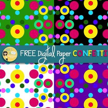 FREE Digital Paper - Confetti
