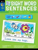 Cut and Paste Sight Words Sentences