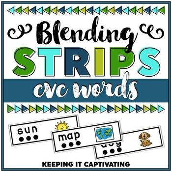 CVC Blending Word Strips