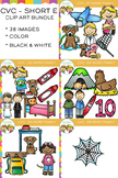CVC Clip Art - Short E Word Family Bundle