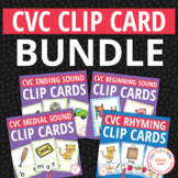CVC Clip Card Bundle: Interactive Phonics Fun for ECE