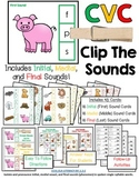 CVC Clip Cards:  Clip The Sounds - Initial, Medial, and Fi