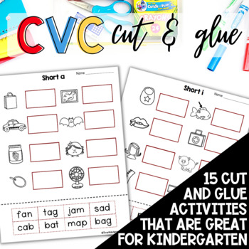 CVC Cut and Paste for Kindergarten