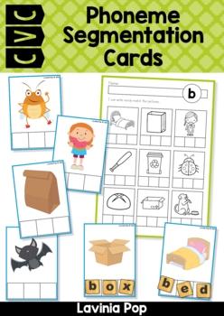 CVC Phoneme Segmentation Cards