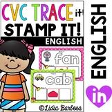 CVC Playdough Trace & Stamp Mats