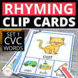 CVC Rhyming Clip Cards:  Rhyming Activity for Early Childh
