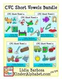 CVC Short Vowels Clip Art Bundle for Teachers