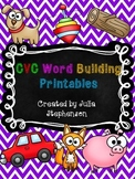 CVC Word Building Printables