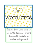 CVC Word Card Cut-Outs