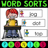 Short and Long Vowel Word Work Sort Game for Literacy Centers