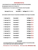 Calculating Wages - Multiplying Rate of Pay Times Hours Worked