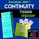 Calculus Continuity Foldable Activity