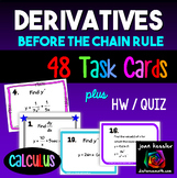Calculus:  Derivatives  *Task Cards*  Worksheets * Before