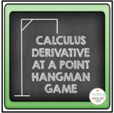 Calculus Derivative at a Point Hangman Game