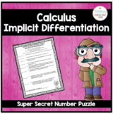 Calculus Super Secret Number Puzzle Implicit Differentiation