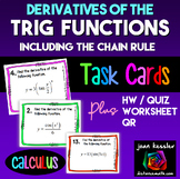 Calculus *Task Cards* Derivatives of Trigonometric Functio