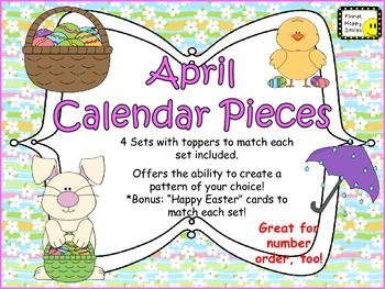 Calendar: April  ~ Easter Number Order 1-30