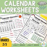 Calendar Discovery - A Monthly Calendar Task