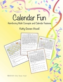 Calendar Fun -  Reinforcing Math Concepts and Calendar Features