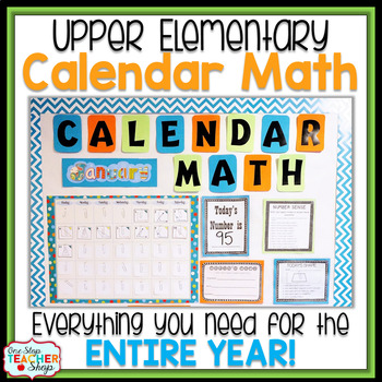 Calendar Math BUNDLE for the ENTIRE Year!!! - 4th & 5th Grade