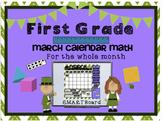 Calendar Math SMARTBoard for March Common Core - Attendanc