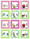 Calendar Number  Squares - Cute Bug Theme