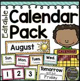 Calendar Pack - Editable {Brights Classroom Set}