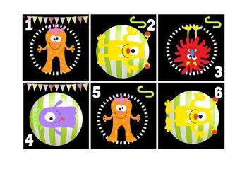 Calendar Patterns to Teach Math (October/Monsters)