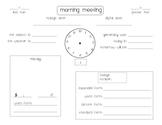Calendar Time [Morning Meeting Form]