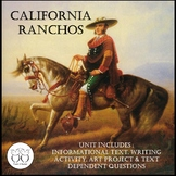California Ranchos : Text  Writing Activity  Art Project a
