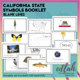 California State Symbols Booklet- Blank Lines