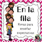 Caminando en fila - Poems for lining up *Spanish*