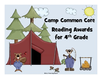 Camp Common Core - Set of 21 Reading Awards 4th Grade