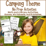 Camping No Prep Printables: Literacy and Math