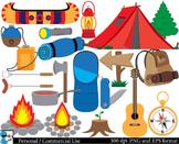 Camping Set Clipart Digital Clip Art Graphics 72 PNG images cod29