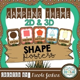 Camping Theme 2D and 3D Shape Posters