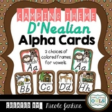 Alphabet Cards Camping Theme (D'Nealian Manuscript) Dots o