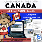 """""""Canada: Our Neighbor to the North"""" Complete Unit with Com"""