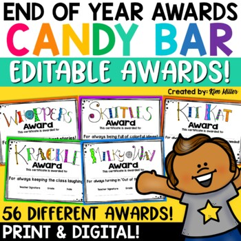 Classroom Candy Bar Awards (56 Awards!)