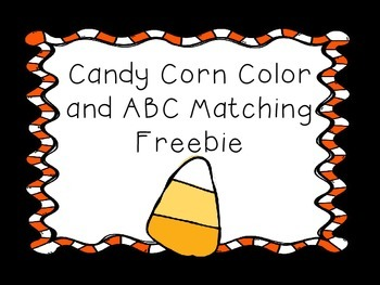 Candy Corn Letter and Color Matching