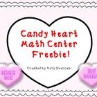 Candy Heart Math Center - FREE!
