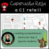 Caperucita Roja, Little Red Riding Hood, reading comprehen